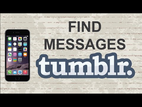 How to find messages on Tumblr | Mobile App