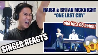 Raisa & Brian McKnight - One Last Cry | REACTION