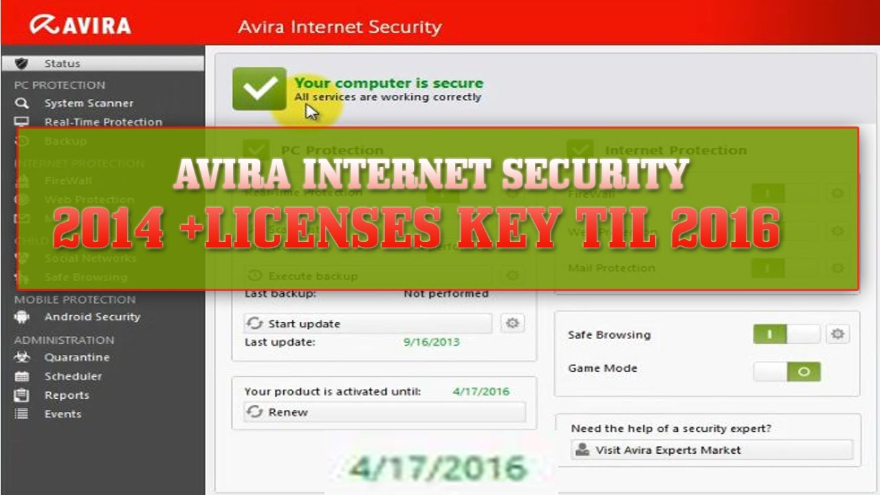 Avira Prime Free License Key for 3 Months Download - 90 Days