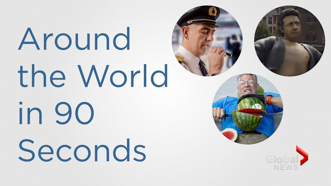 In 90 Seconds: A giant bare-chested Jeff Goldblum statue and a watermelon world record