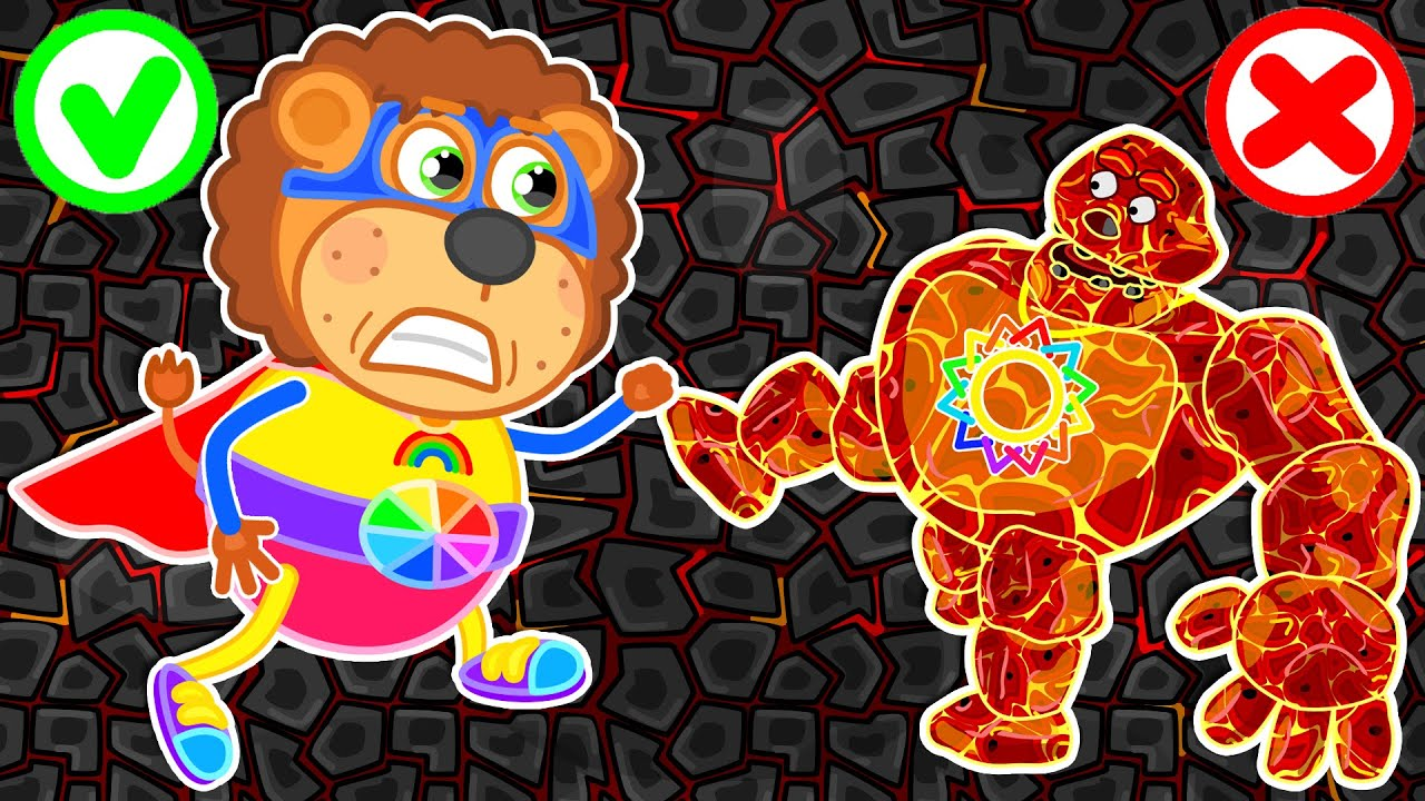 Lion Family ? Lava Giant from Magic Dungeon | Cartoon for Kids