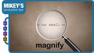 After Effects Motion Graphics Magnifying Glass
