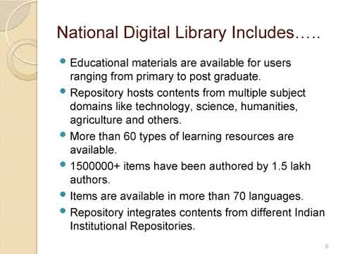NDL E Learning Module in Library & Information Science by Mr. Vijay Pachgade