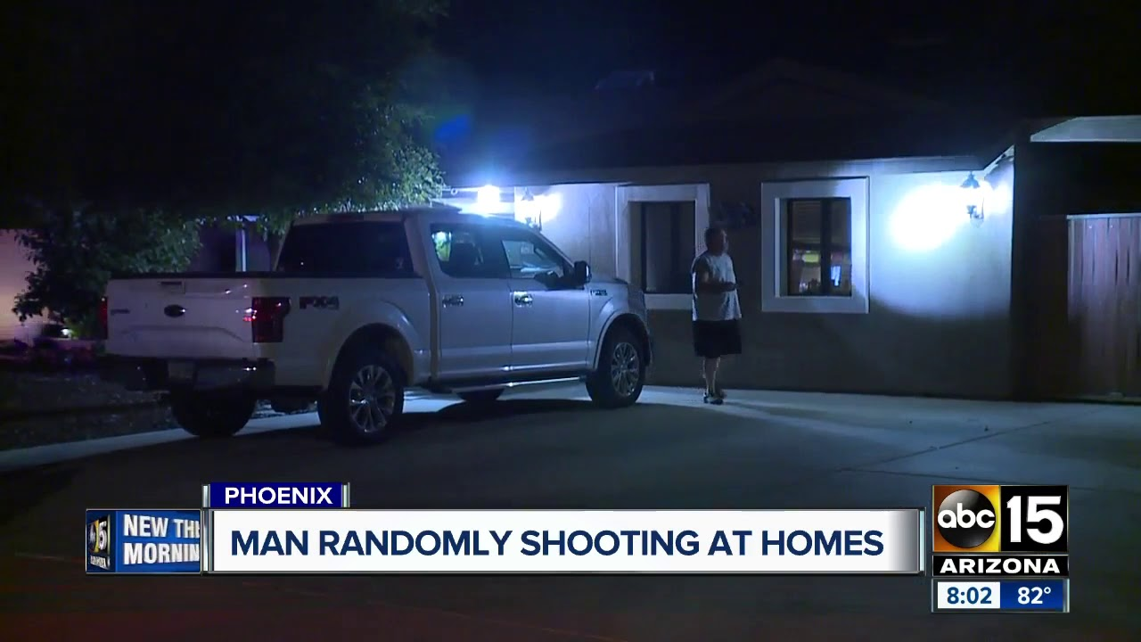 Man randomly shoots at homes near 51st Ave. and Greenway