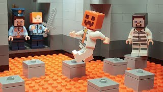 Lego Minecraft - NOOB vs PRO - Prison Escape