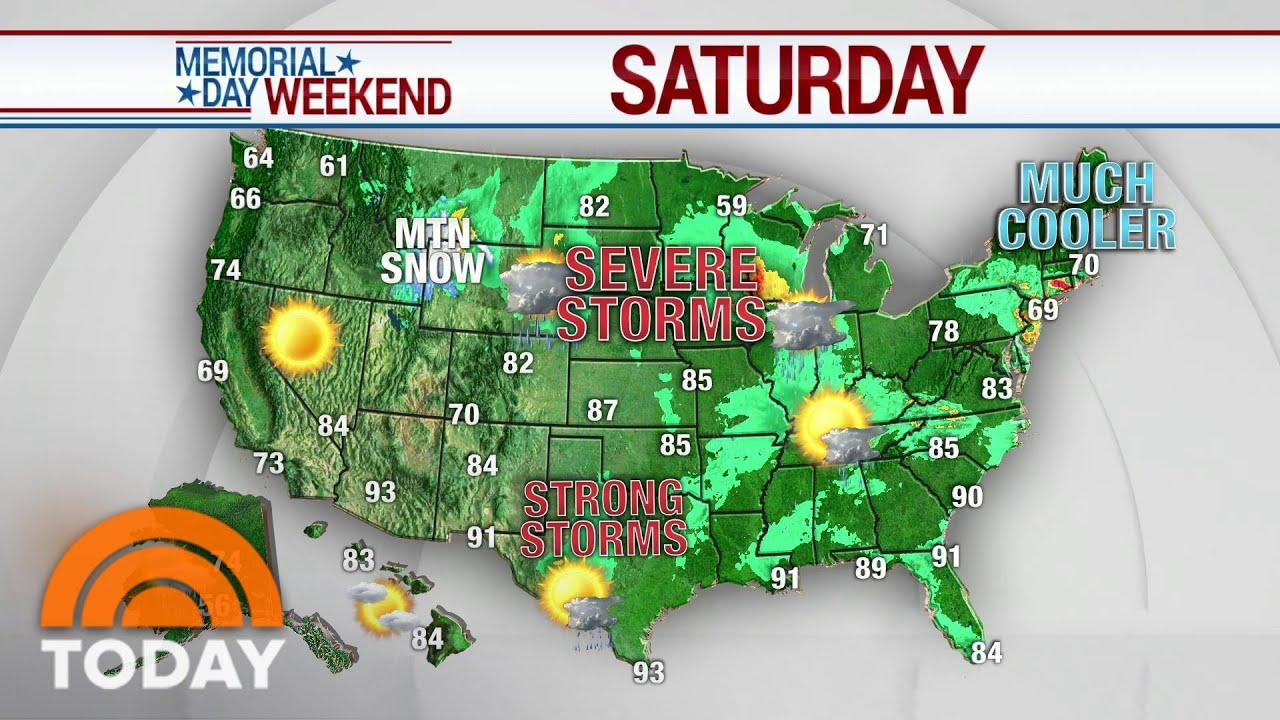 More rain possible for Memorial Day Weekend