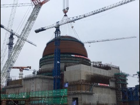 Containment Dome for No. 5 Unit of China's Hualong Nuclear Power Project Installed