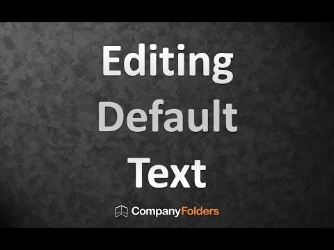 Editing Default Text in Your Free Design Template