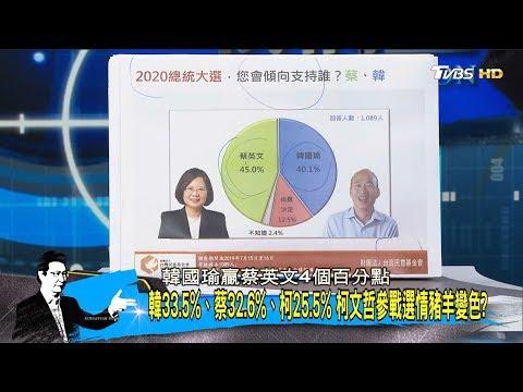 親綠智庫:蔡英文45%贏過韓國瑜40.1% 國民黨2020警訊? 少康戰情室 20190722