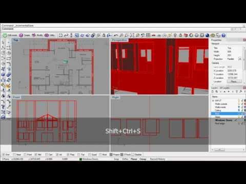 Rhino 3D archviz modeling process
