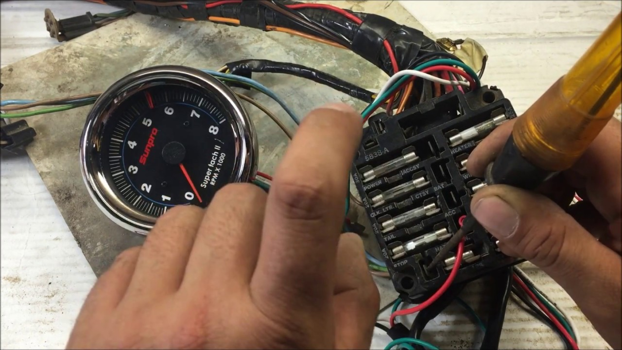 Gm Tach Wiring Mastering Diagram Wire How To Install Up A Tachometer The Right Way For Rh Youtube Com Dixco