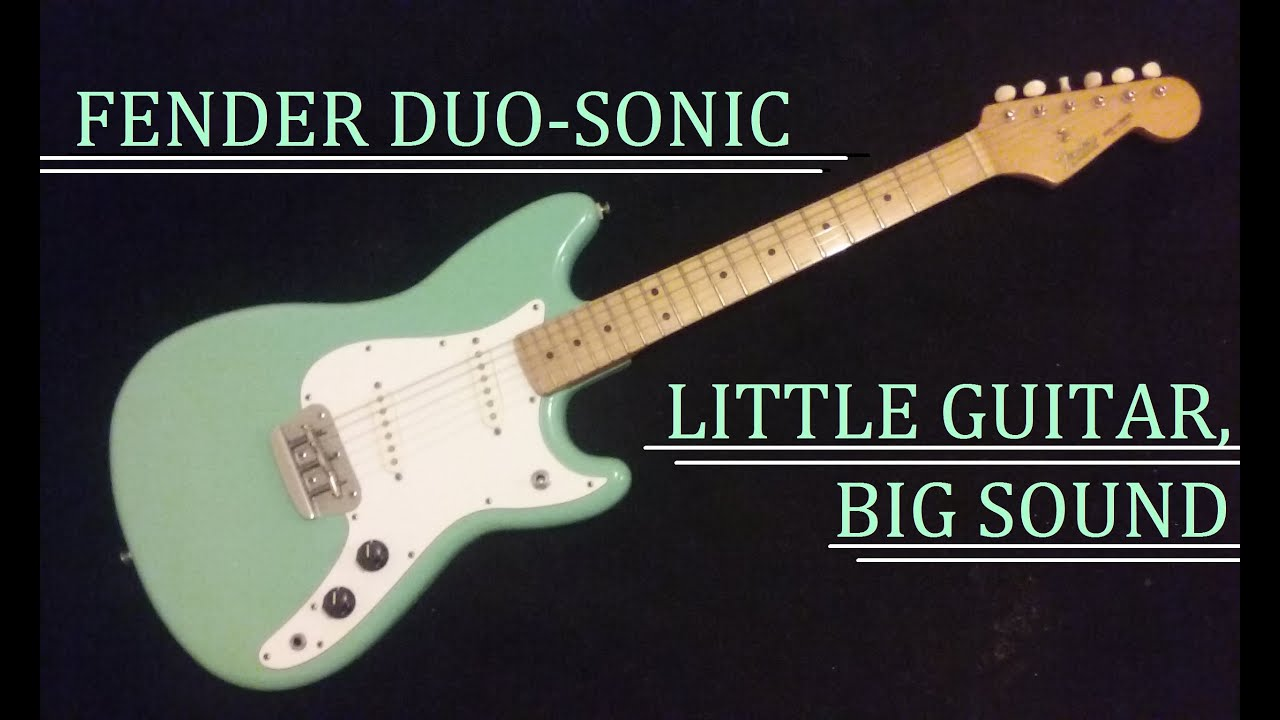 1993 fender duo sonic reissue mim little guitar big sound youtube. Black Bedroom Furniture Sets. Home Design Ideas