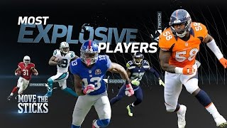 Top 5 Most Explosive Players in the NFL | Move the Sticks | NFL