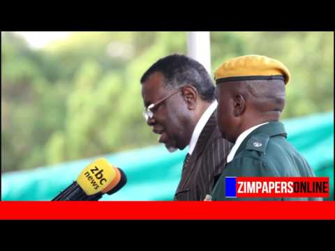 President Hage Geingob opens the 2017 edition of the ZITF