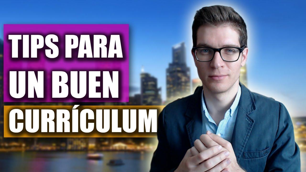 Cómo Hacer un Buen Curriculum: TIPS Para Llamar la Atención - YouTube
