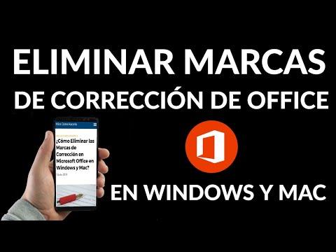 Cómo Eliminar las Marcas de Corrección de Microsoft Office en Windows y Mac