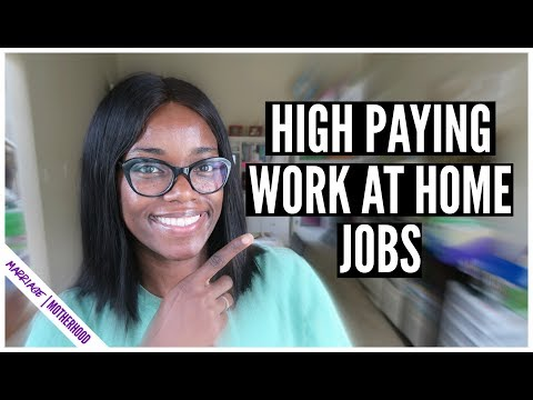 HIGH PAYING WORK FROM HOME JOBS (No Degree Required)  