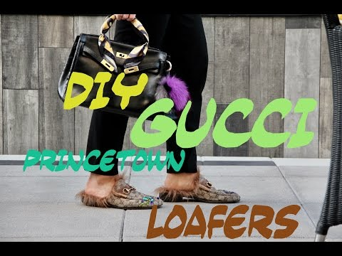 DIY GUCCI PRINCETOWN LOAFERS 2016 Instagram @urbanicon
