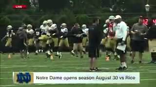 Notre Dame Practice  Brian Kelly Wired