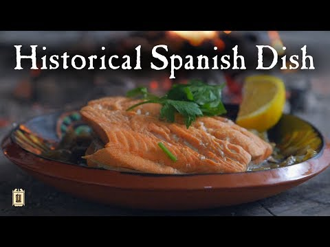 Spanish Cooking - Salmon And Onions From 1750