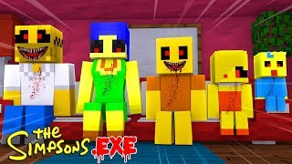 HELLO NEIGHBOUR CREATES SIMPSONS.EXE| Minecraft Little Kelly