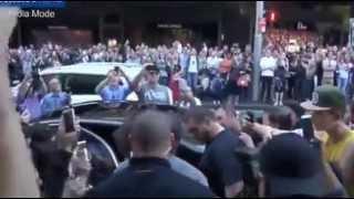 Kim and Kanye leave Mr Wong's restaurant in Sydney