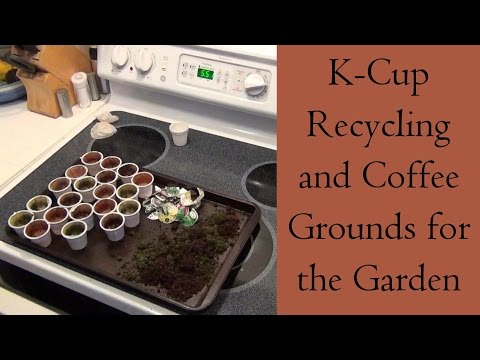 KCup Recycling and Coffee Grounds for the Garden