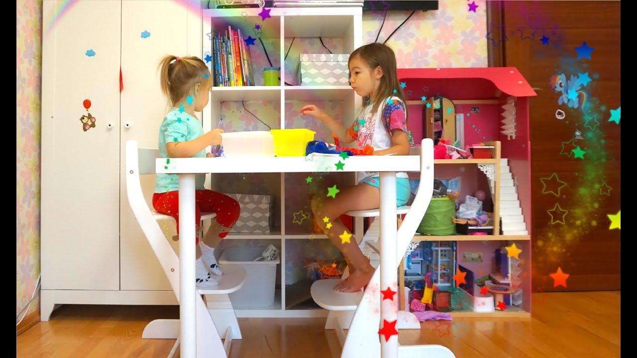 детский влог новый стол стеллаж икеа о прививках Youtube