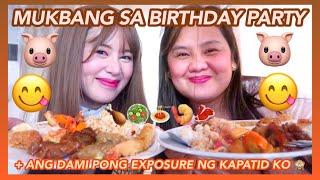 NAG-MUKBANG SA BIRTHDAY PARTY 🐷🙈😋 (+ SOBRANG DAMI PONG EXPOSURE NG KAPATID KO!!) | Eunice Santiago