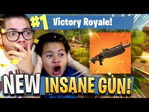 *NEW* HEAVY SHOTGUN COMING TO FORTNITE BATTLE ROYALE! 9 YEAR OLD BROTHER IS TRASH TALKING! *MUST SEE