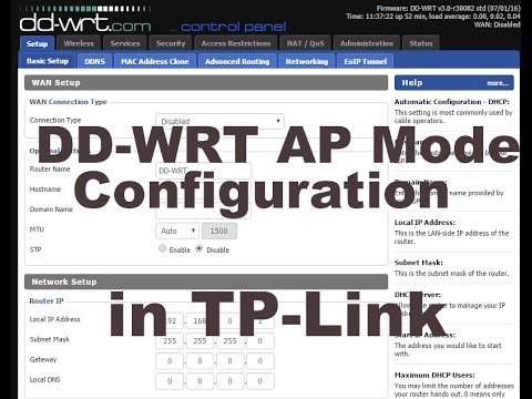 DD-WRT Access point mode with TPlink router