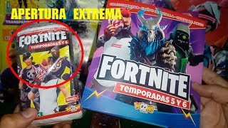 Opening EXTREME CARD FORTNITE Season 5 and 6 WOOW Stickers!!