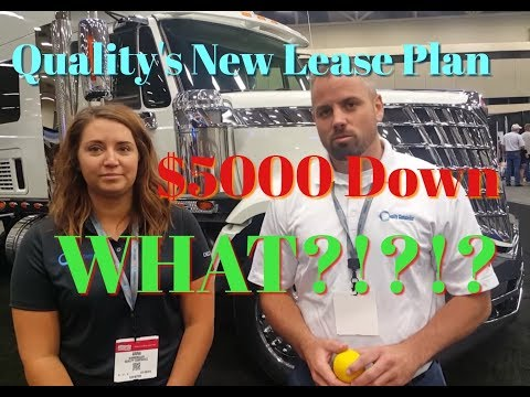 Trucking: Quality Companies New Lease Purchase Deal. $5000 Down. WHAT?!?!?