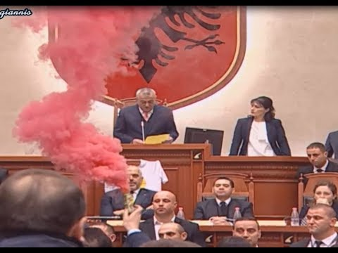 Violence breaks out in Albanian Parliament