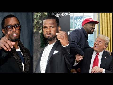 50 Cent & Diddy Team Up & Join TI To Voice Frustration Over Kanye West Bowing Down To Donald Trump