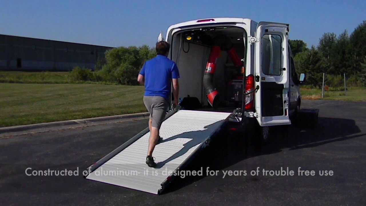 Efficient Loading Ramp In Ford Transit Medium Roof Cargo