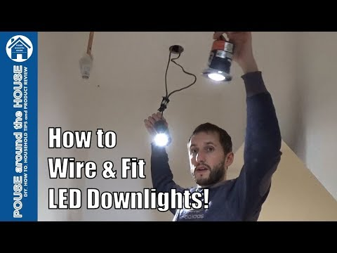 How to install downlighters/downlights. LED downlight installation. (Part 2)