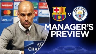 PEP ON MESSI & BARCA | Barcelona v Man City | Guardiola Press Conference(Pep Guardiola speaks to the media ahead of Barcelona vs Manchester City at the Nou Camp in the Champions League group stages. Subscribe for FREE and ..., 2016-10-18T17:55:50.000Z)
