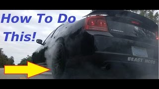 How to do a Burnout With an Automatic