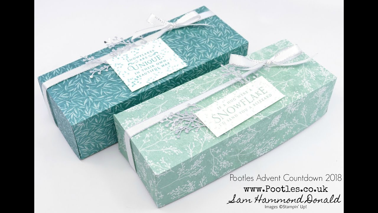 Download Pootles Advent Countdown 2018 #21 Frosted Florals Large Box Tutorial