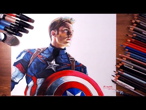 Captain America, Steven Rogers (Chris Evans) - Speed drawing