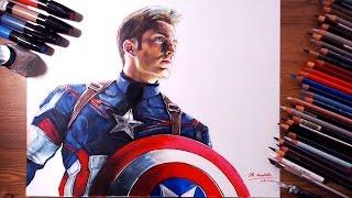 Captain America, Steven Rogers (Chris Evans) - Speed drawing