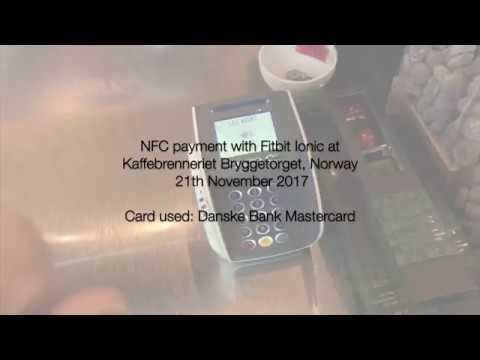 Payment with Fitbit Ionic and credit card from Danske Bank in Norway (HD)