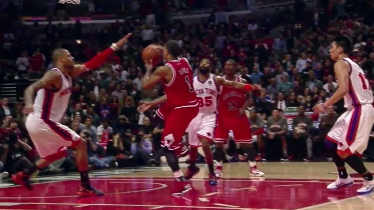 0603ec747d9 Derrick Rose sick tomahawk dunk vs. Knicks (Mar 12