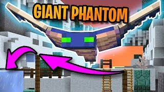 Minecraft: CAN WE OUTRUN THE GIANT PHANTOM?