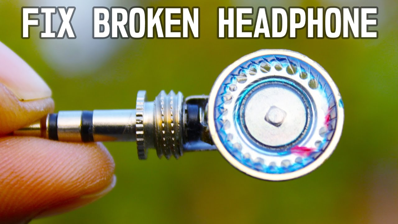 Two Awesome idea to fix Broken Head Phone Without Soldering - YouTube