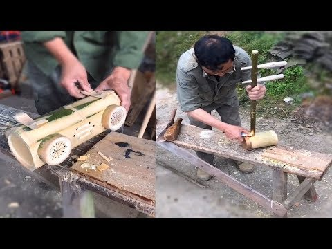 Creative old man use Bamboo & wood make amazing artwork DIY 2019