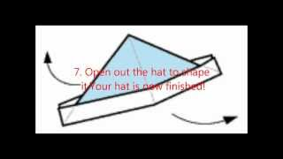 How To Make An Origami Hat!