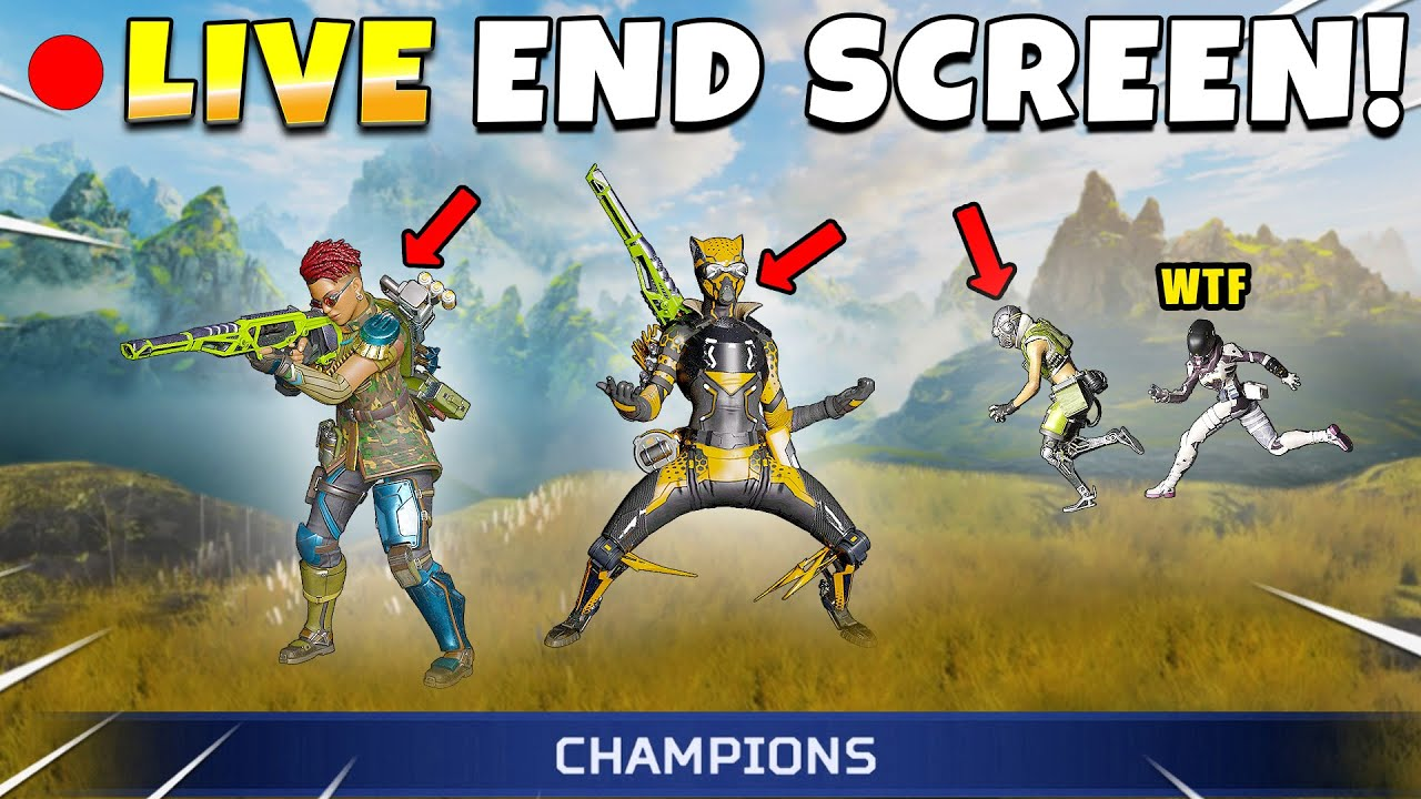 *NEW* LIVE END-SCREEN CAUGHT ON CAMERA! - NEW Apex Legends Funny & Epic Moments #674