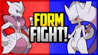 Mega Mewtwo X vs Mega Mewtwo Y | Pokémon Form Fight (Legendary)